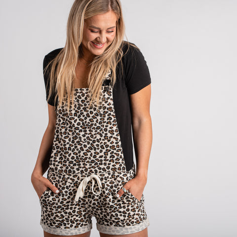 Z Supply leopard overalls from Lush Fashion Lounge boutique in OKC, Oklahoma boutique that sells Z Supply, Z Supply in Oklahoma,