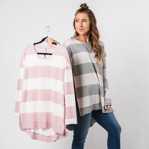 Z Supply stripe weekenders from Lush Fashion Lounge women's boutique in OKC, Oklahoma boutique