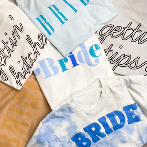 Bride t-shirts from Lush Fashion Lounge women's boutique in Oklahoma City