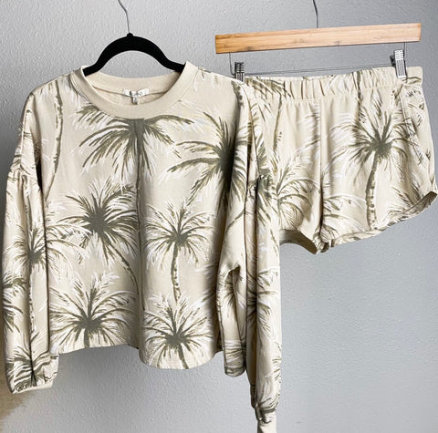 Palm print set from Lush Fashion Lounge women's boutique in Oklahoma City