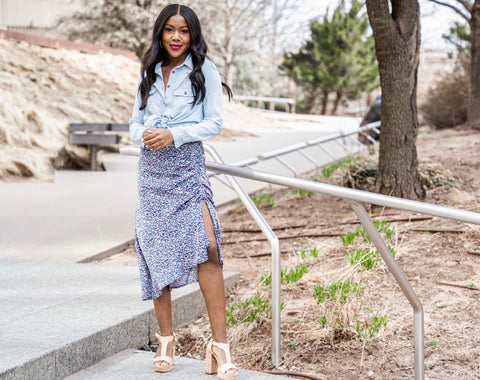 Midi skirt from Lush Fashion Lounge women's boutique in Oklahoma City