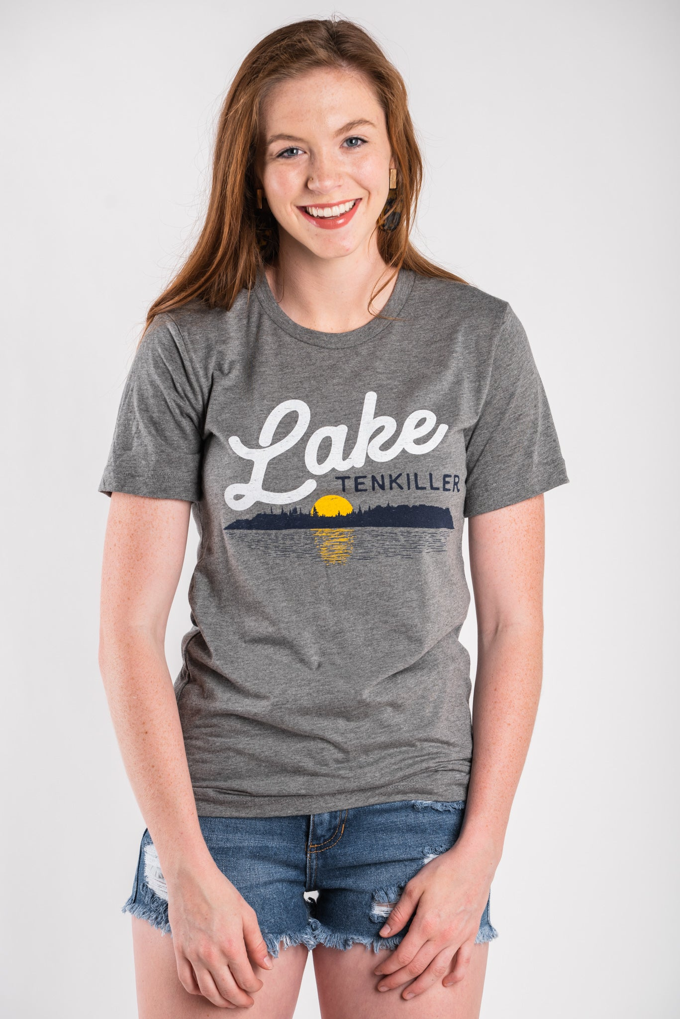3af3064517b0c Lake Tenkiller unisex short sleeve t-shirt grey - Lush Fashion Lounge
