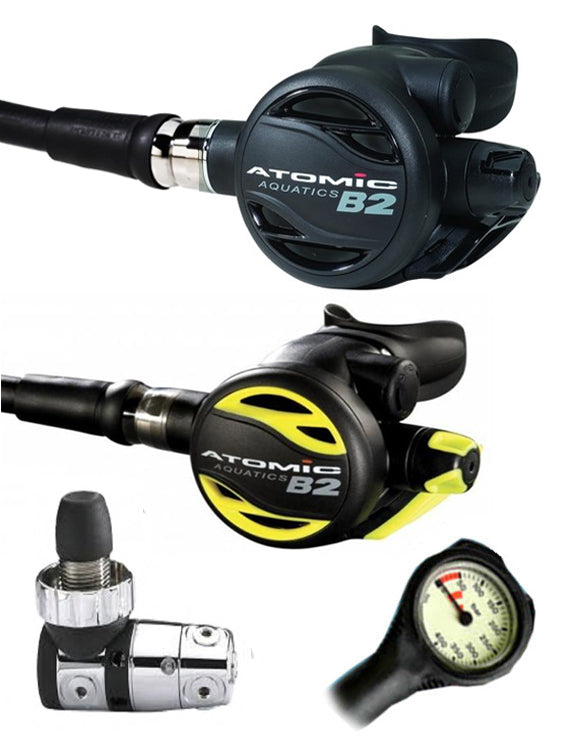 Atomic Aquatics B2 Regulator Set (DIN) / Octopus (B2) / Free Termo Gauge
