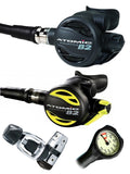 Atomic Aquatics B2 Regulator Set (Yoke) / Octopus (B2) / Free Termo Gauge