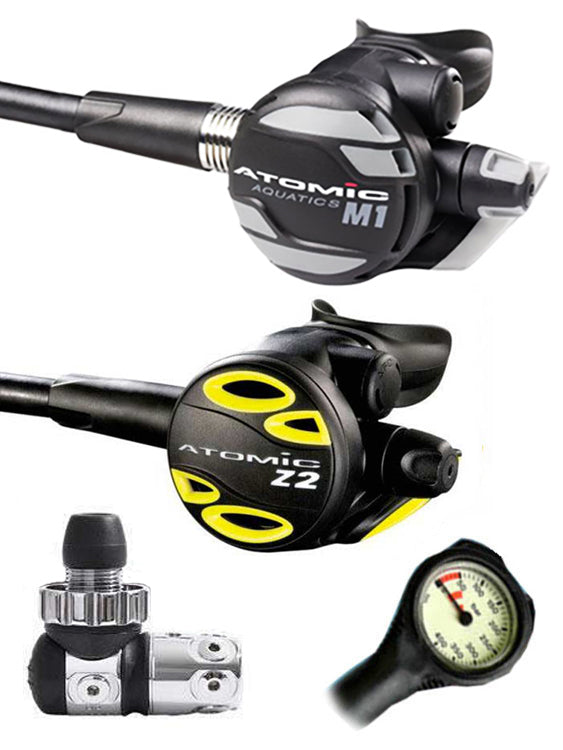 Atomic Aquatics M1 Regulator Set (DIN) / Octopus (Z2) / Free Termo Gauge