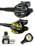 Atomic Aquatics Z2 Regulator Set (DIN) / Octopus (Z2) / Free Termo Gauge