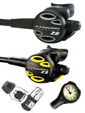 Atomic Aquatics Z2 Regulator Set (Yoke) / Octopus (Z2) / Free Termo Gauge