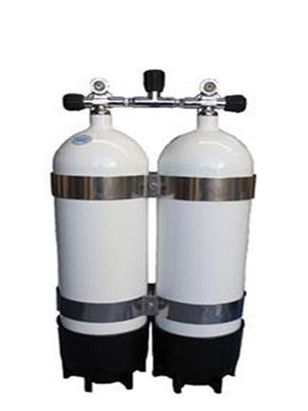 Faber 10.5L Steel Twin Tanks with Manifold & Bands