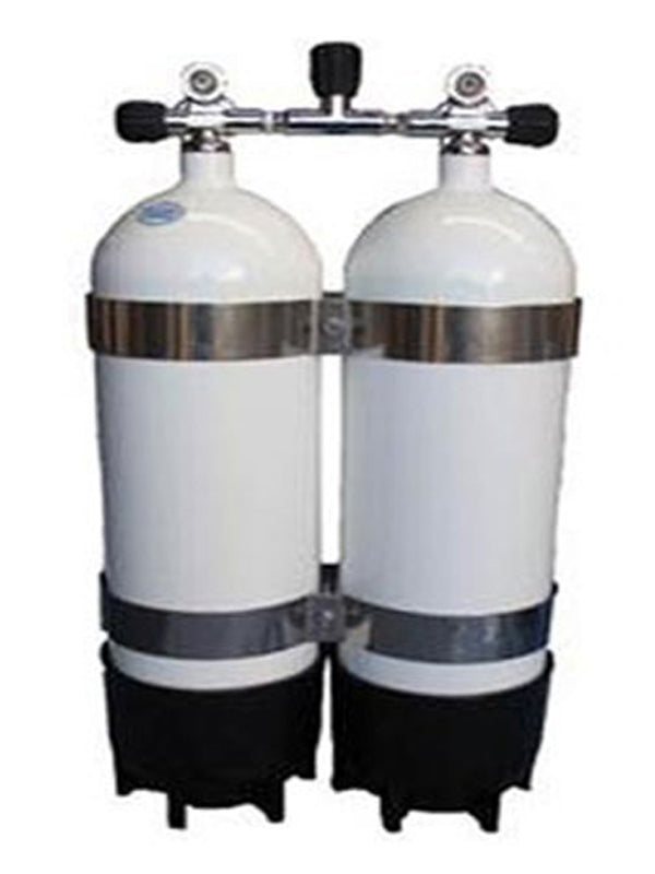 Faber 15L Steel Twin Tanks with Manifold & Bands