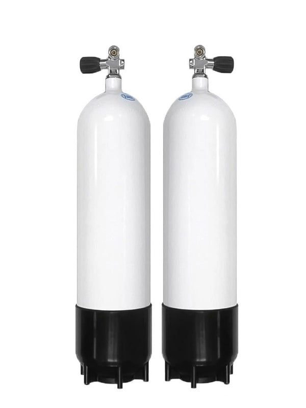 Faber 7L Steel Sidemount Tanks with Opposite Valves