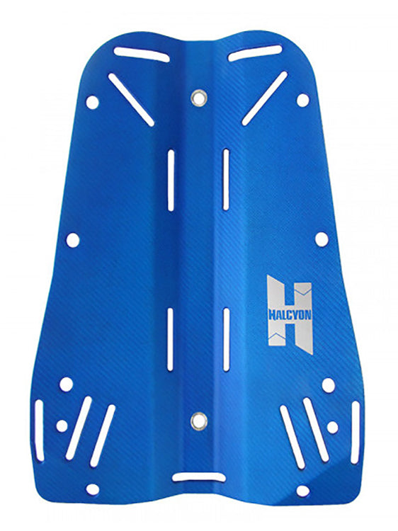 Halcyon Carbon Fibre Backplate with Harness - Blue