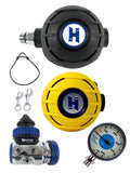 Halcyon Regulator Set: H50D (DIN) / Aura / Aura Occy & Master SPG + Necklace
