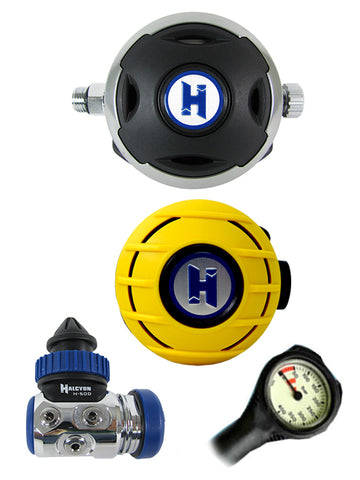 Halcyon Regulator Set: H50D (DIN Only) / Aura / Aura Occy & FREE Termo Gauge