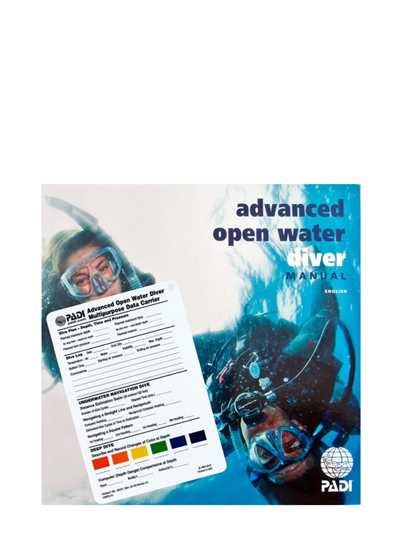 PADI Advanced Open Water Diver Manual with Data Carrier