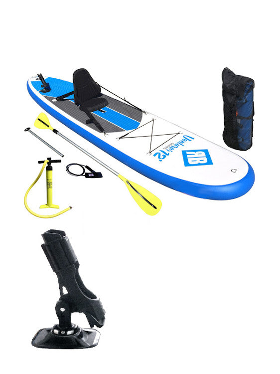 Redback Venturer 12' Fishing Pack SUP with Removable Seat, Pump, Paddle & Bag