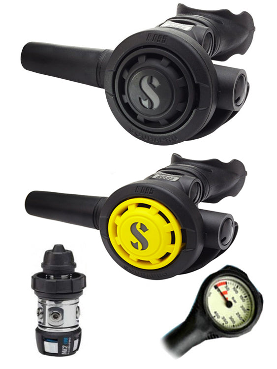 Scubapro Regulator Set: MK2 Evo DIN / R095 / R095 Octopus & Free Termo Gauge
