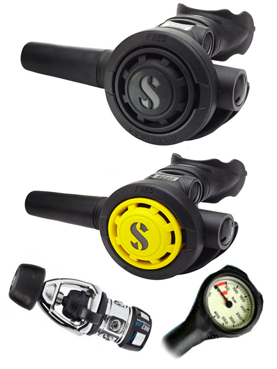 Scubapro Regulator Set: MK2 Evo Yoke / R095 / R095 Octopus & Free Termo Gauge
