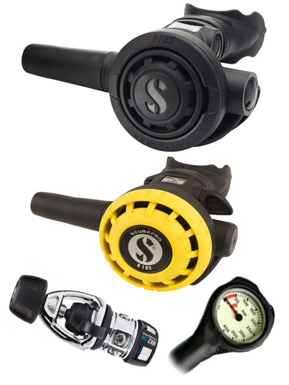 Scubapro Regulator Set: MK2 Evo Yoke / R095 / R195 Octopus & Free Termo Gauge