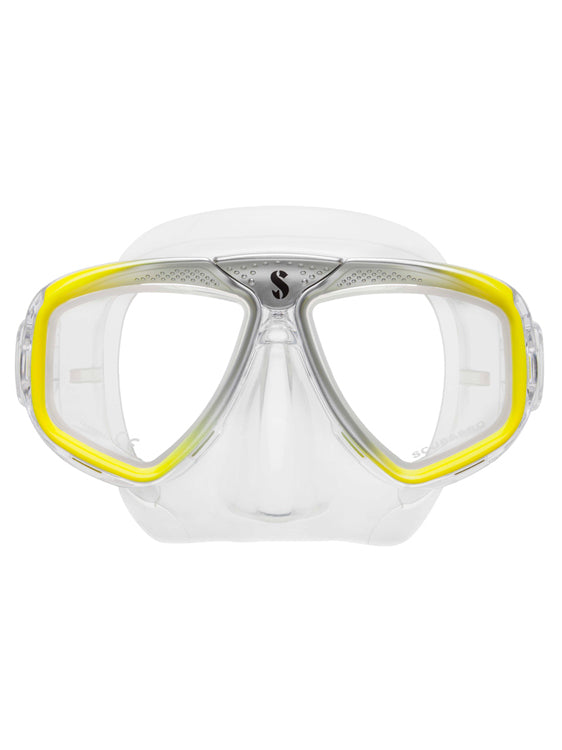 Scubapro Zoom Evo Dive Mask - Yellow Silver Clear