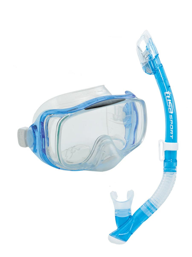 TUSA Sport Imprex 3D Dry Snorkeling Set - Light Blue