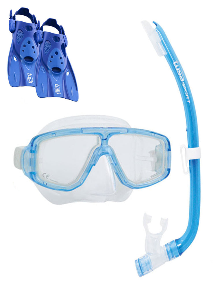 TUSA Sport Platina Hyperdry Adult Travel Set - Light Blue