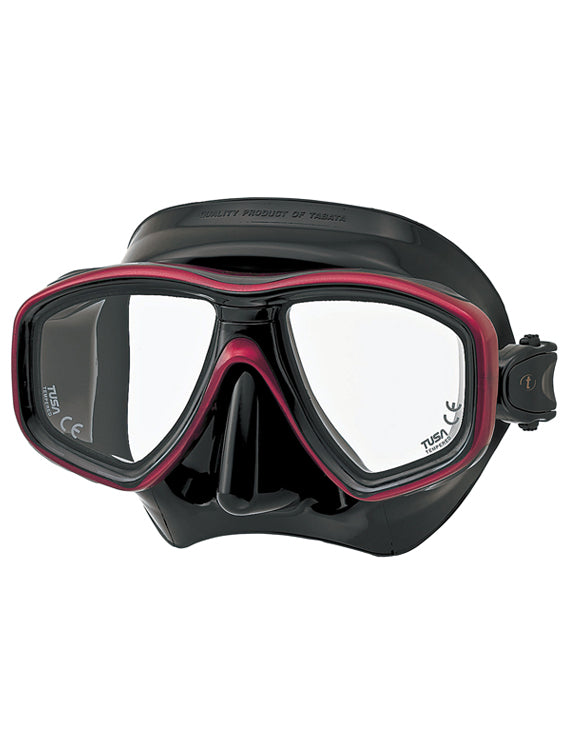 Tusa Freedom Ceos Mask (M-212) - Black/Metallic Red (BK/MDR)