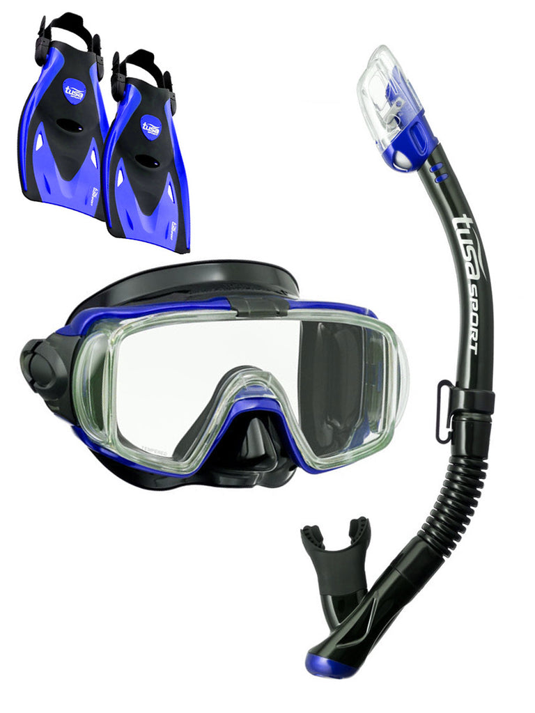 TUSA Sport Visio Tri Ex Travel Set Blue