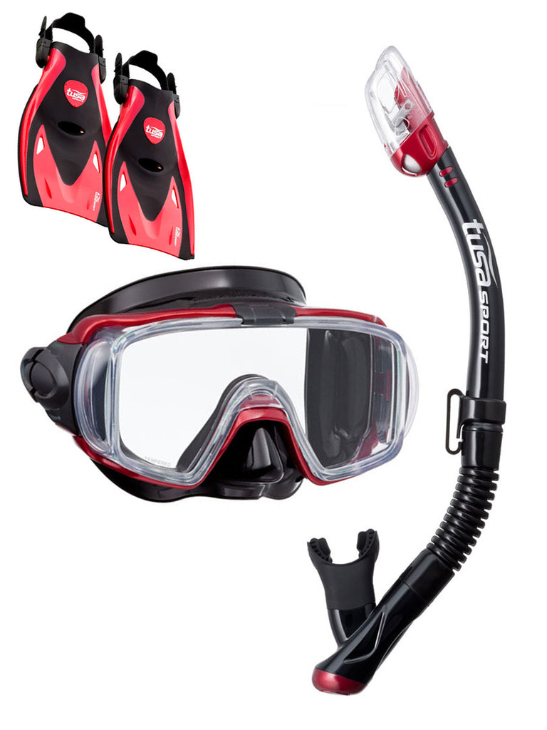 TUSA Sport Visio Tri Ex Travel Set Red