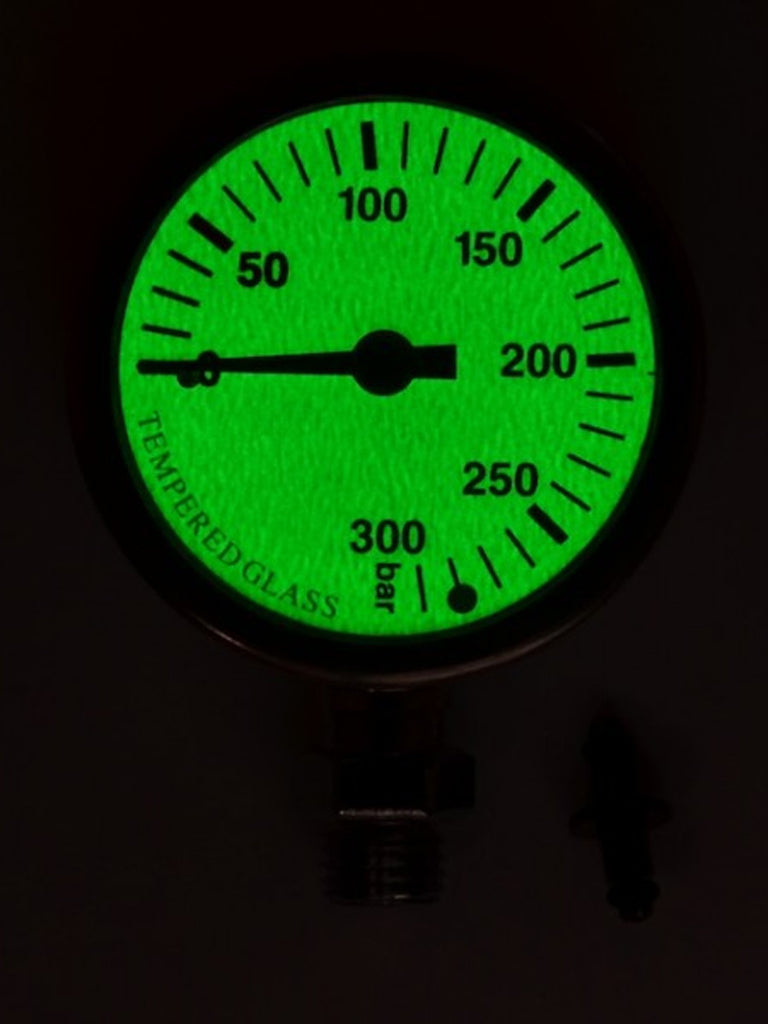 Naked Termo Gauge (Brass & Glass) - Glow in the Dark