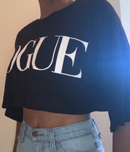 Load image into Gallery viewer, Black Vogue Tee