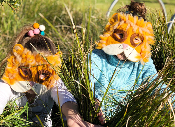 fairtrade childrens felt lion mask