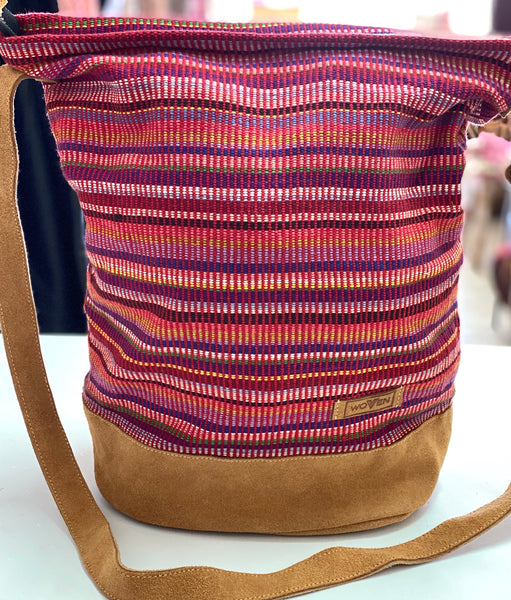 "Large ""woven"" bucket bag"