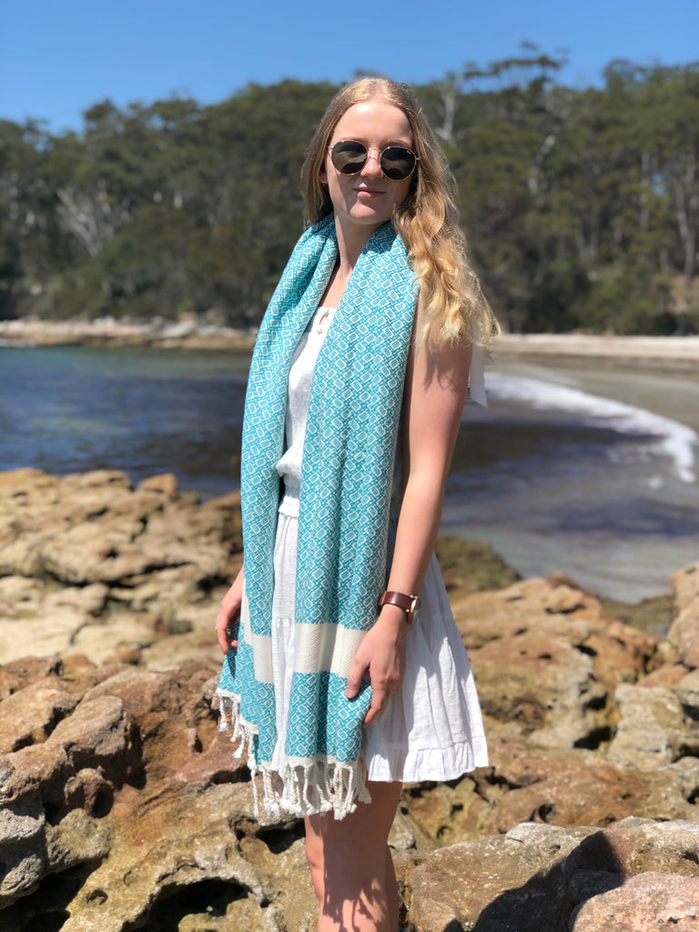 """Almond"" weave Turkish Towel"