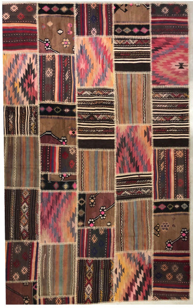 "Vintage Patchwork ""kilim"" Turkish Rug"