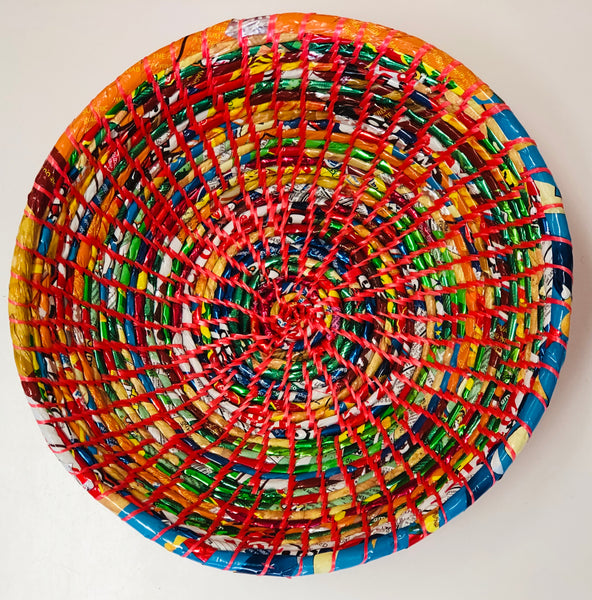 large recycled rubbish bowl
