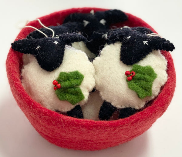 "Felt ""sheep""xmas decoration"