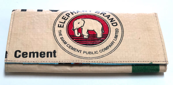 recycled cement bag wallet