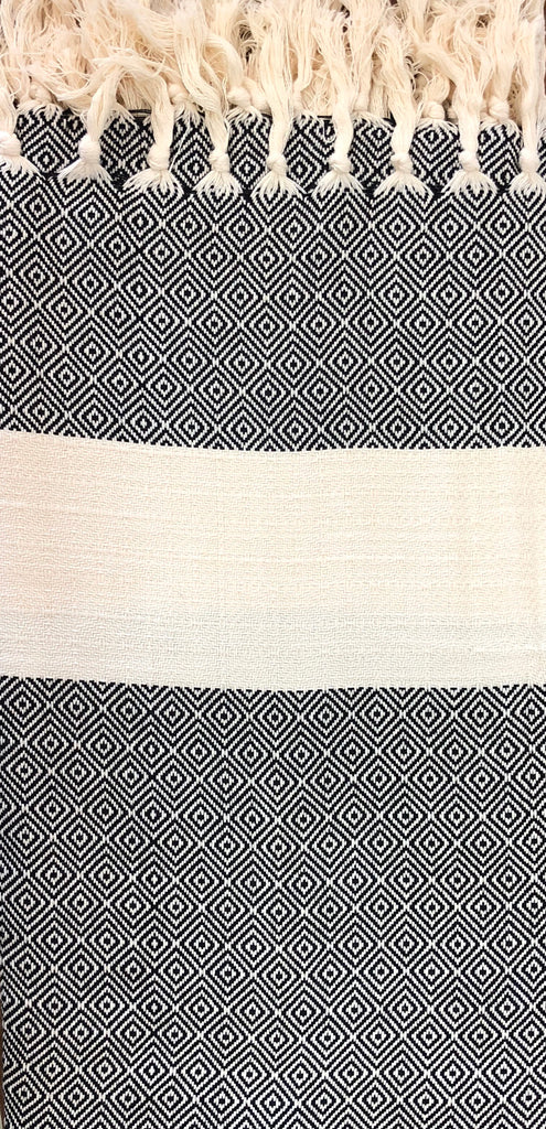"""diamond"" weave Turkish Towel"