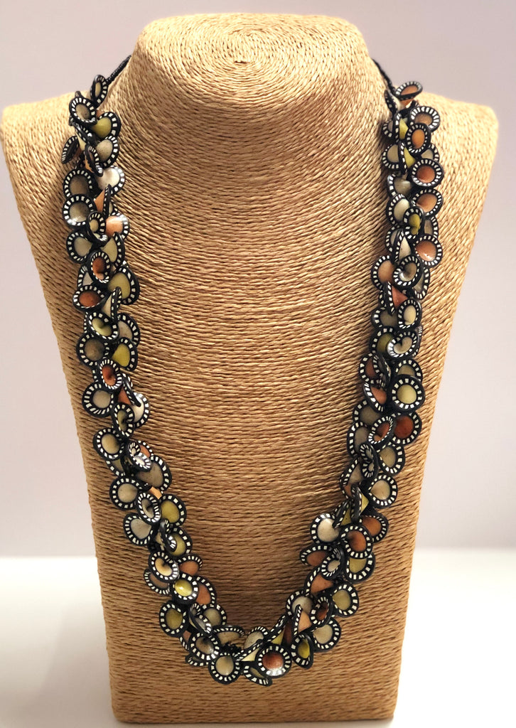 """samunnat"" petal necklace"