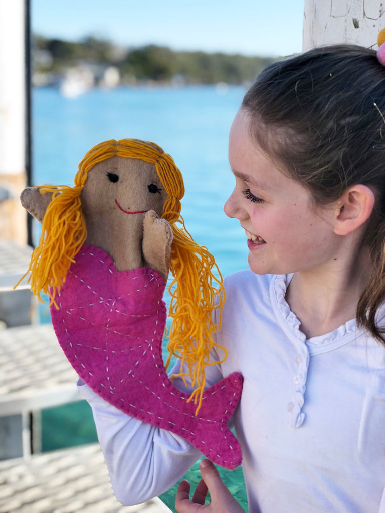 felt mermaid hand puppet