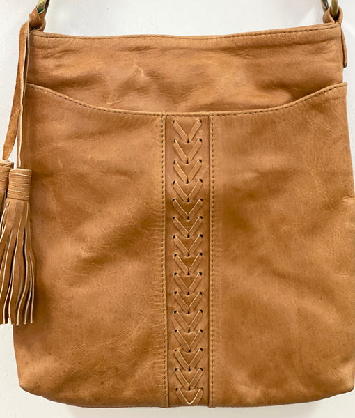 """Boho"" leather bag"