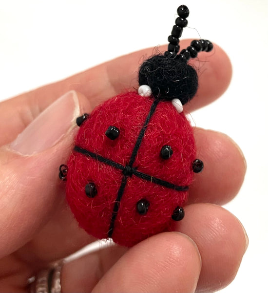 felt ladybug 🐞and bee 🐝 brooch