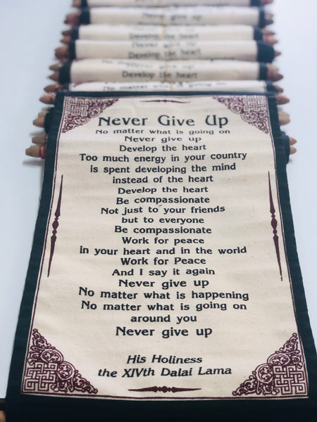 "Dalai Lama quote ""never give up"""