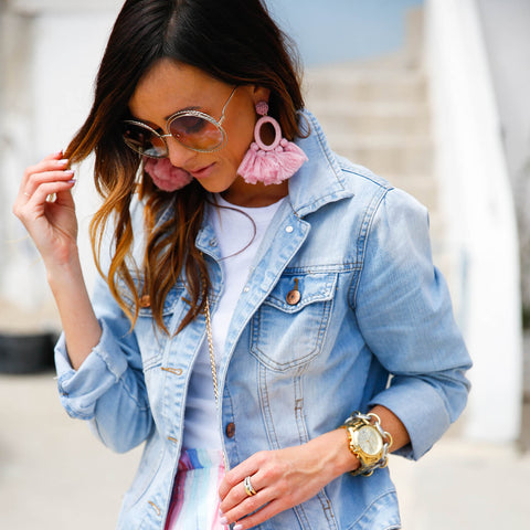 Denim-Jackets-with-statement-earrings