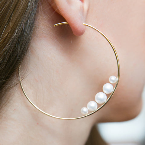 Hoop-Style-Pearl-Earrings