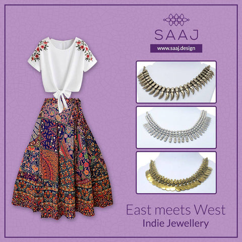 Oxidised-Jewellery-with-Western-outfit-Saaj