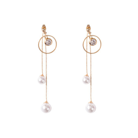 Tassel-Pearl-Drop-Earrings