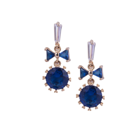 Blue Stone Earrings -Saaj