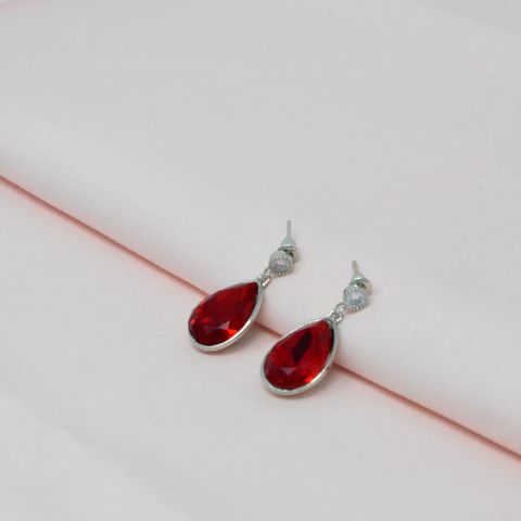 Red-ColourStone-Earrings-Saaj