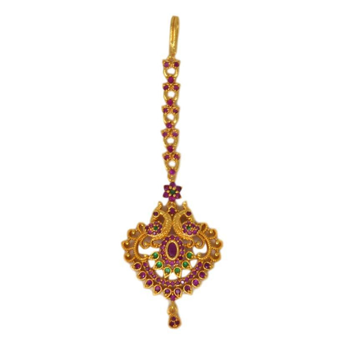 Red & Green Stone  Bindi Top View